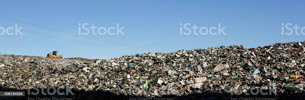 Landfill landscape stock photo