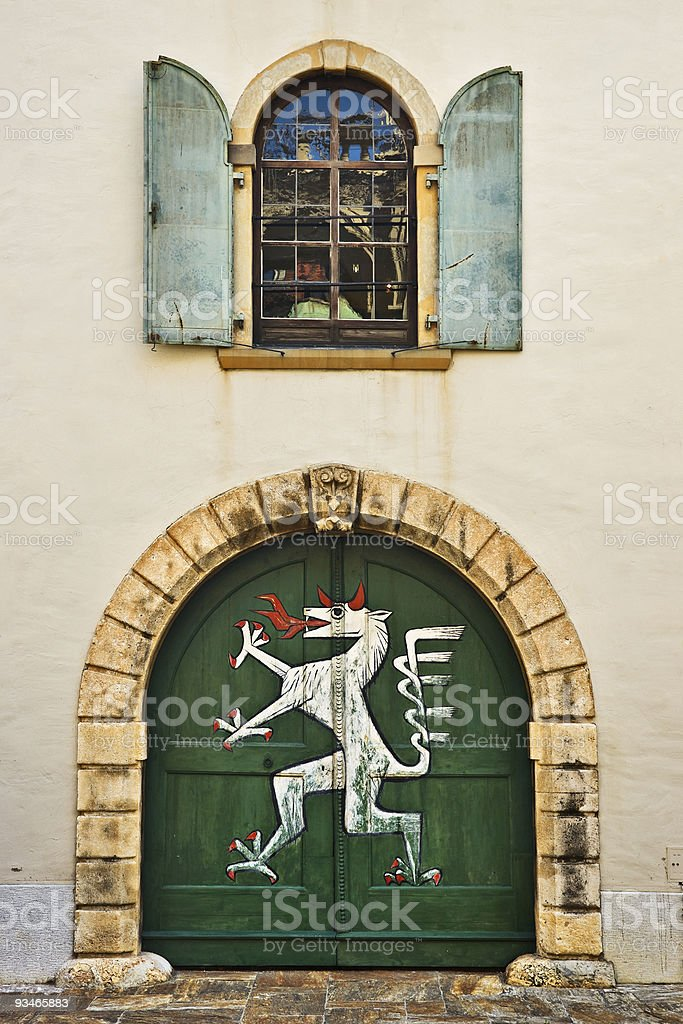 Landhaus door, Graz, Austria stock photo