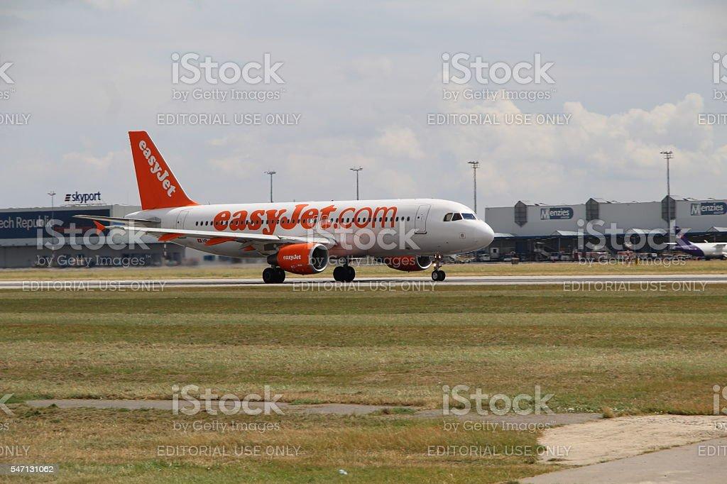 Landing A320 royalty-free stock photo