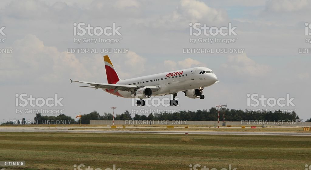 Landing A321 royalty-free stock photo