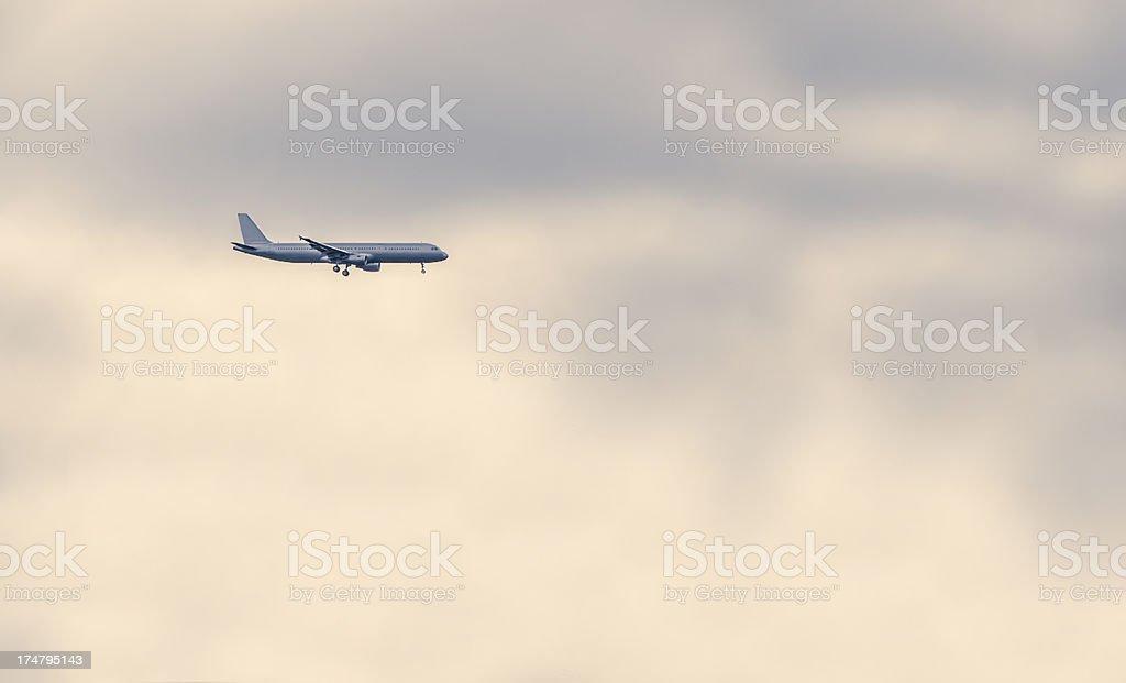landing airplane royalty-free stock photo
