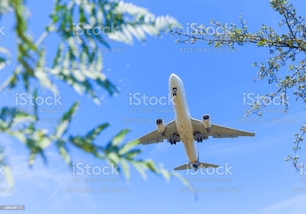 Landing at Cologne International Airport CGN stock photo