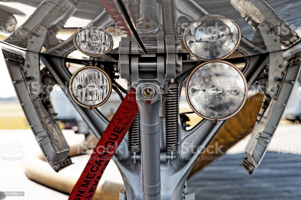 Landing Gear and Landing Lights stock photo