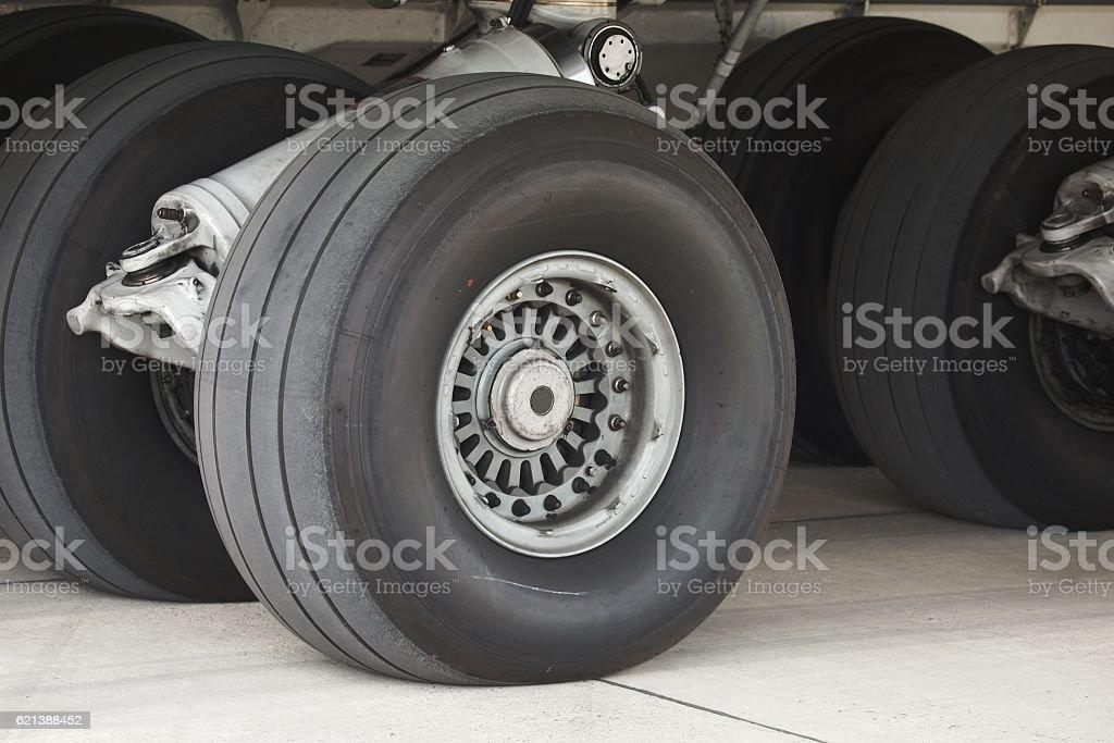 Landing Gear Closeup stock photo