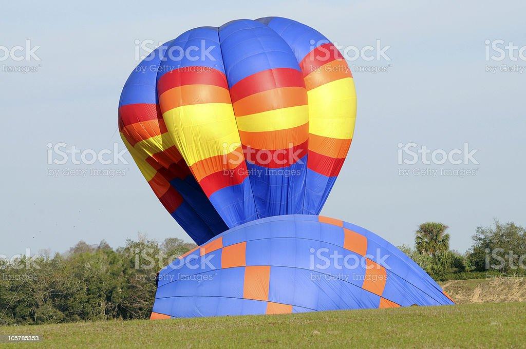 Landing Hot Air Balloons stock photo