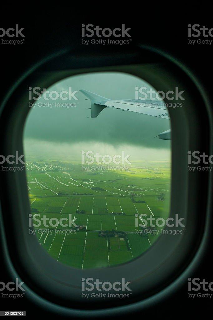 landing in Holland stock photo