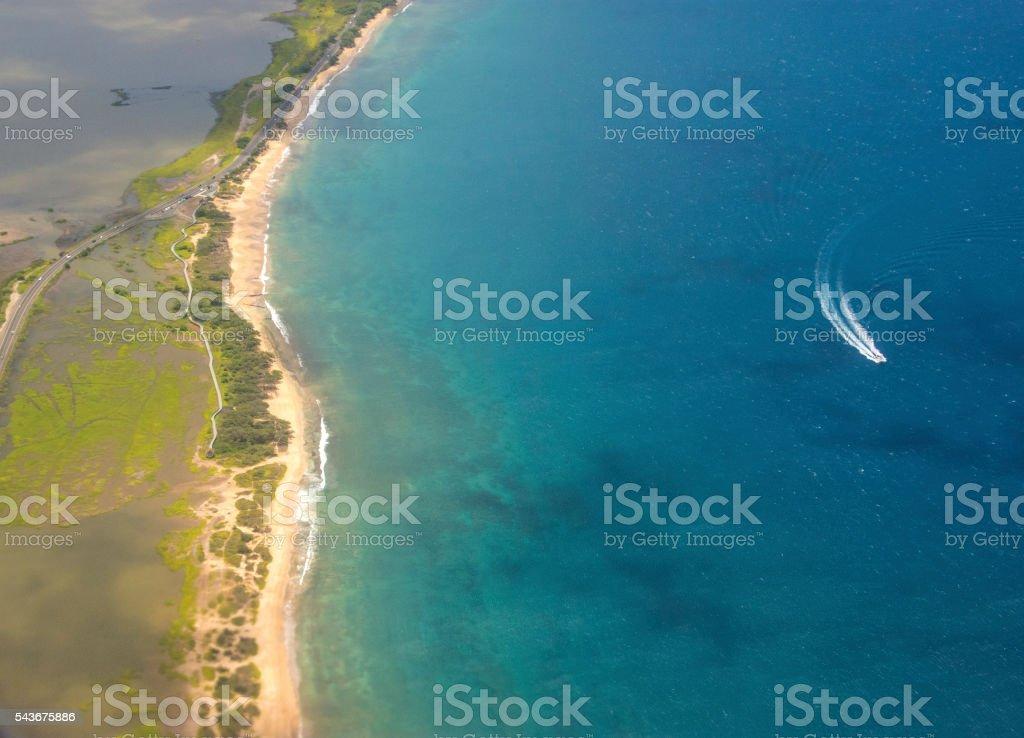 Landing in Maui stock photo