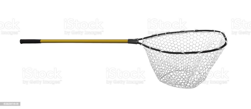 Landing net isolated on white stock photo