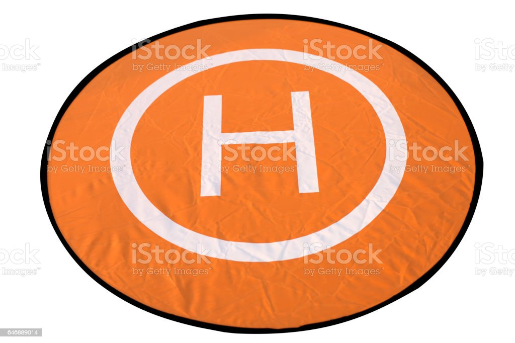 H landing pad stock photo