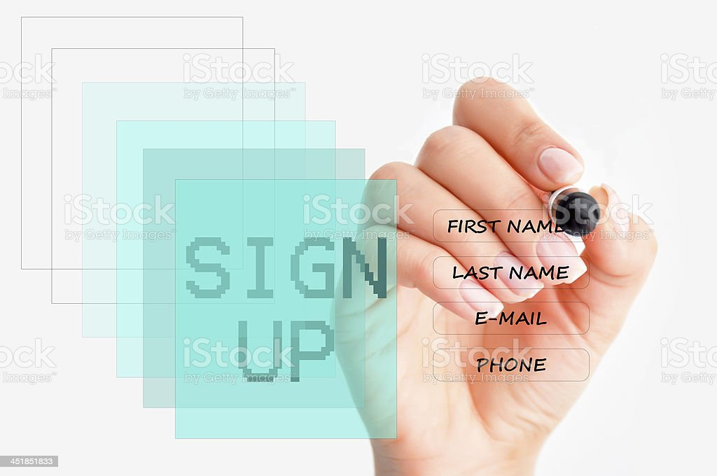 Landing page concept stock photo