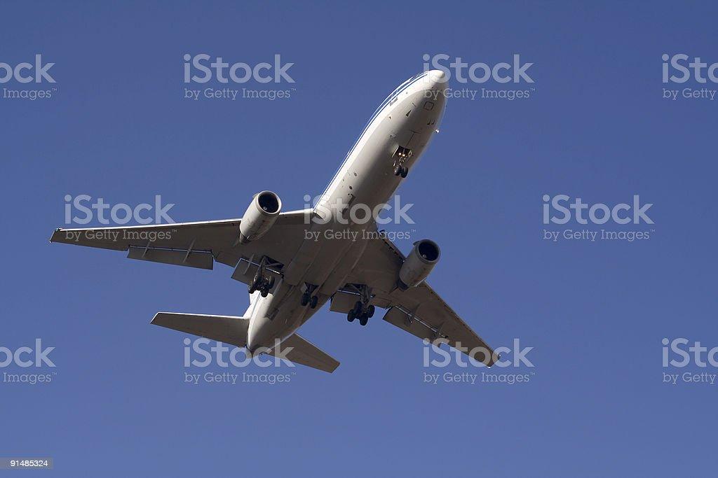 Landing passenger airplane 3 royalty-free stock photo