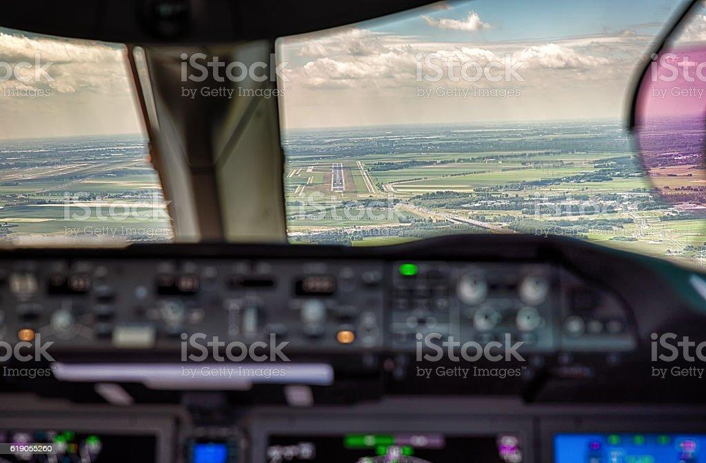 Landing stock photo