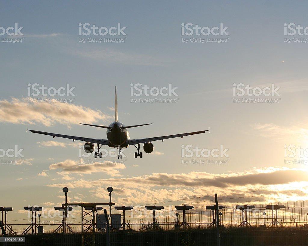 Landing plane II royalty-free stock photo