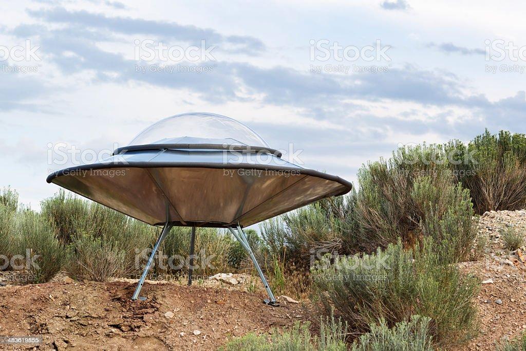 UFO Landing Site royalty-free stock photo