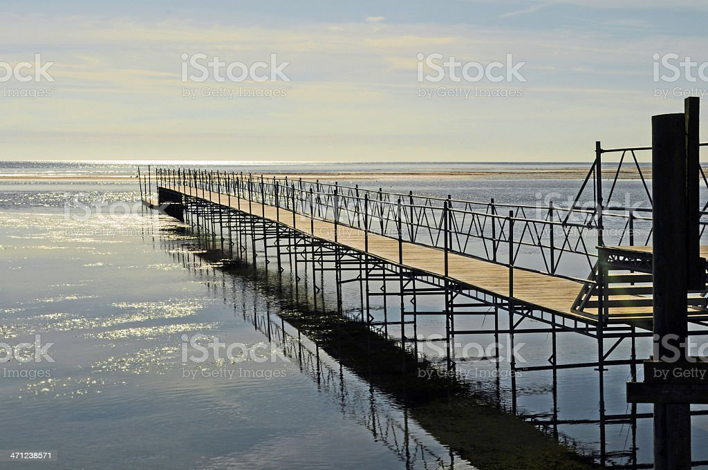 Landing stage at Baltic Sea royalty-free stock photo