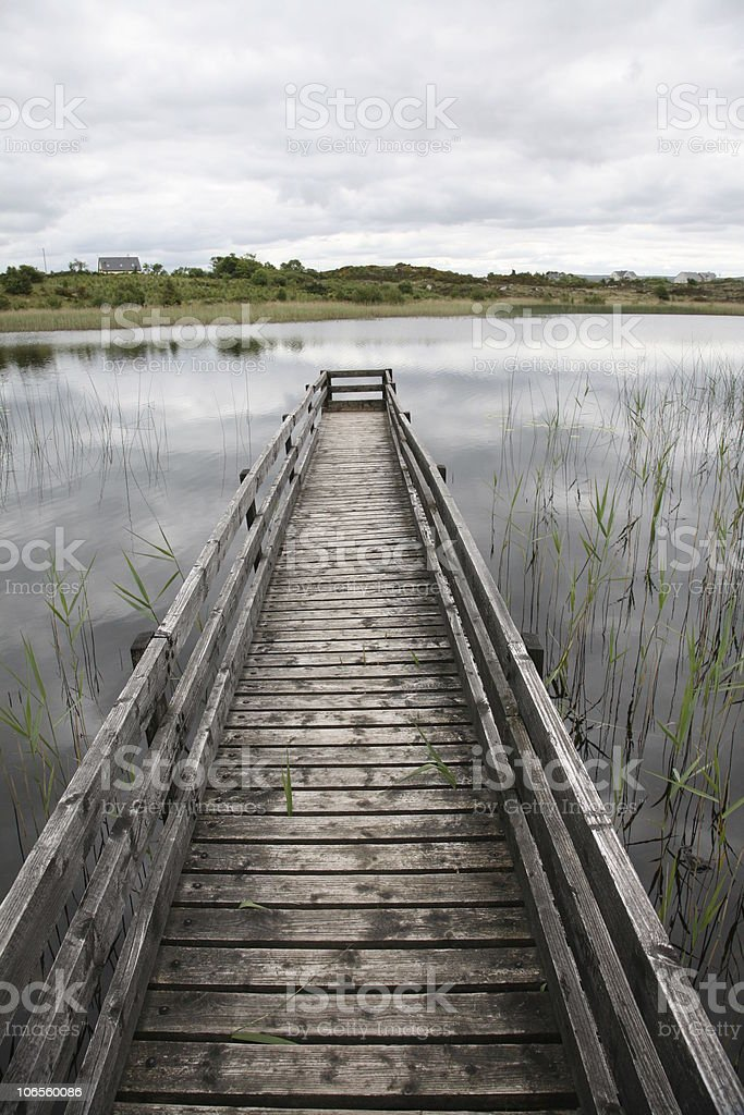 Landing stage in Ireland long royalty-free stock photo