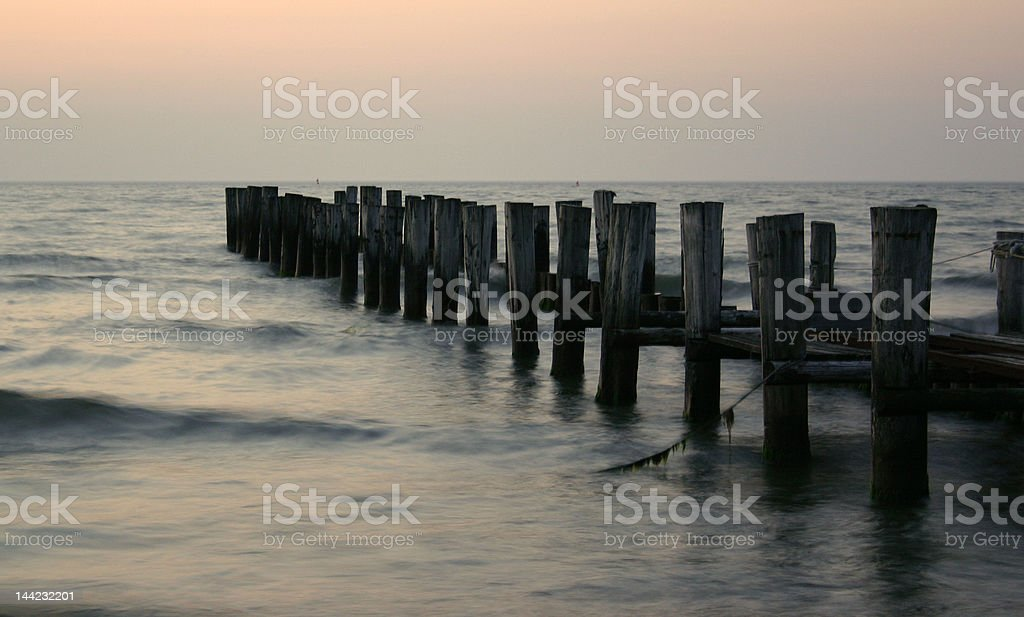 Landing stage royalty-free stock photo