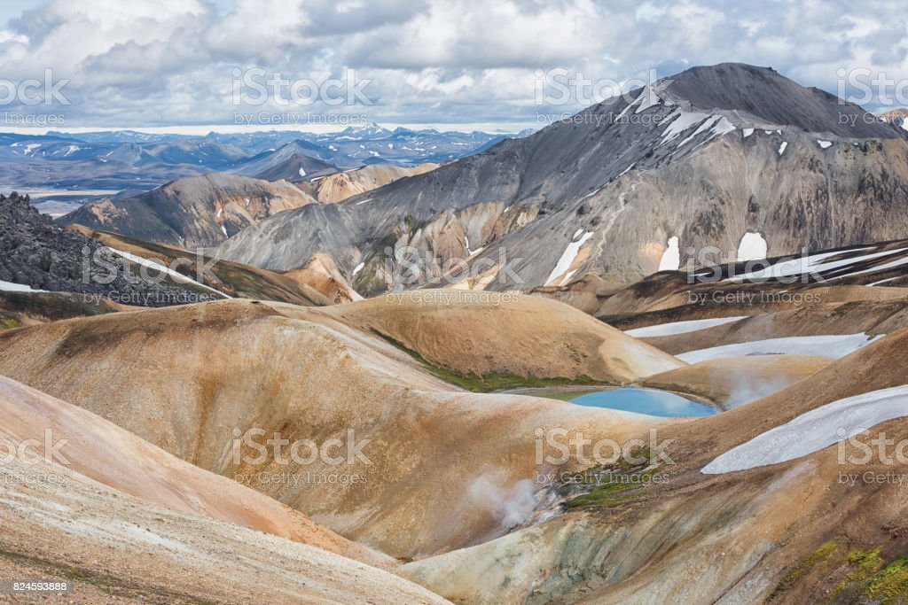 Landmannalaugar Adventure stock photo