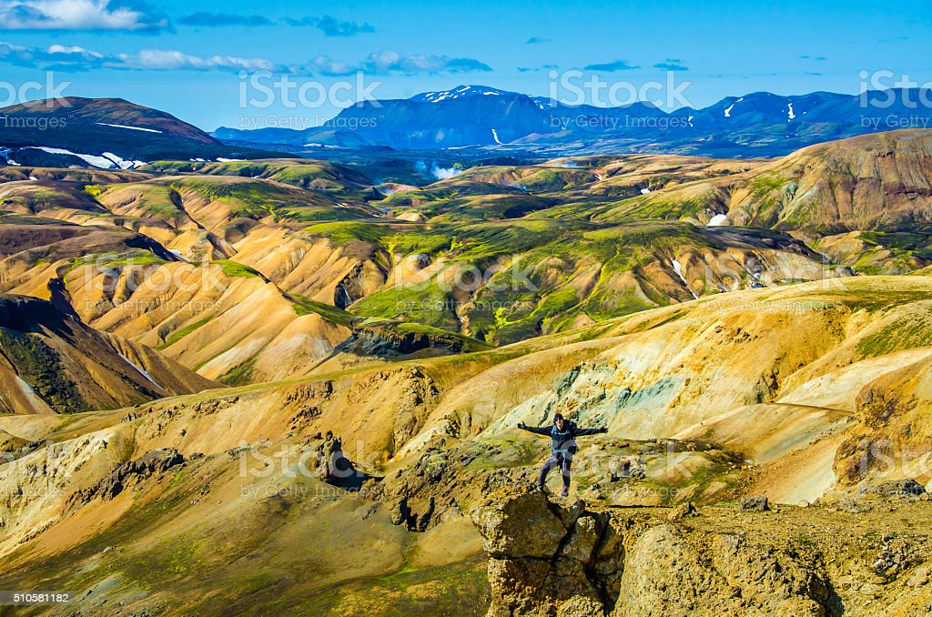 Landmannalaugar - Amazing Landscape in Iceland stock photo