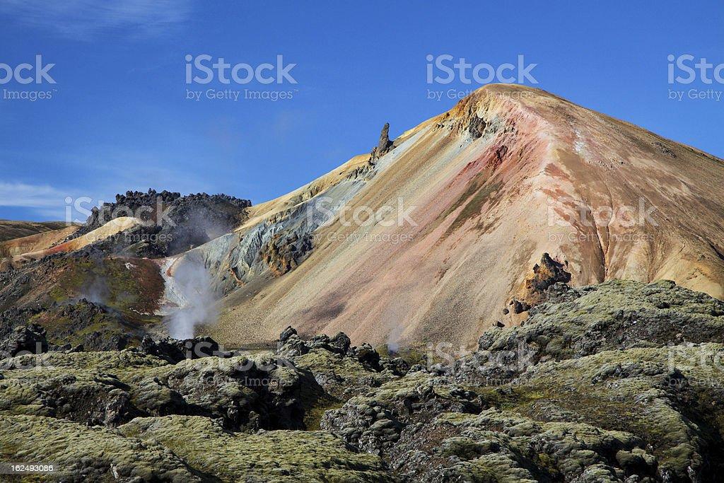 Landmannalaugar colored rainbow mountains, Iceland royalty-free stock photo