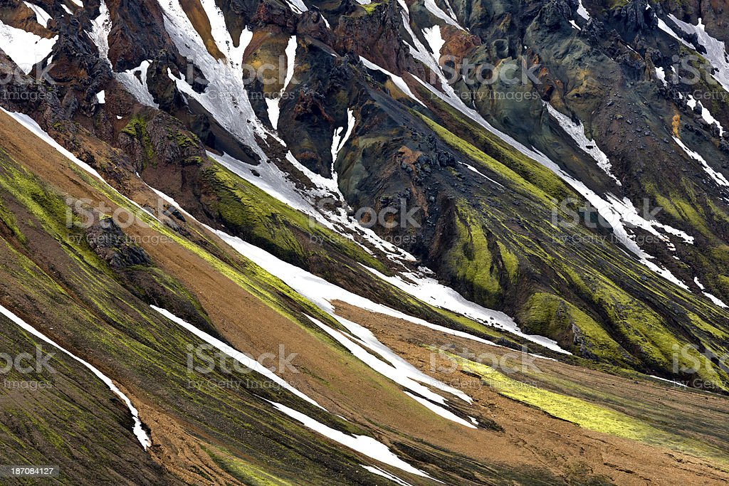 Landmannalaugar Iceland stock photo