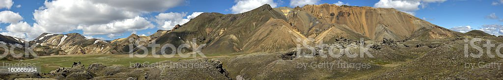 Landmannalaugar, Island. Panorama royalty-free stock photo