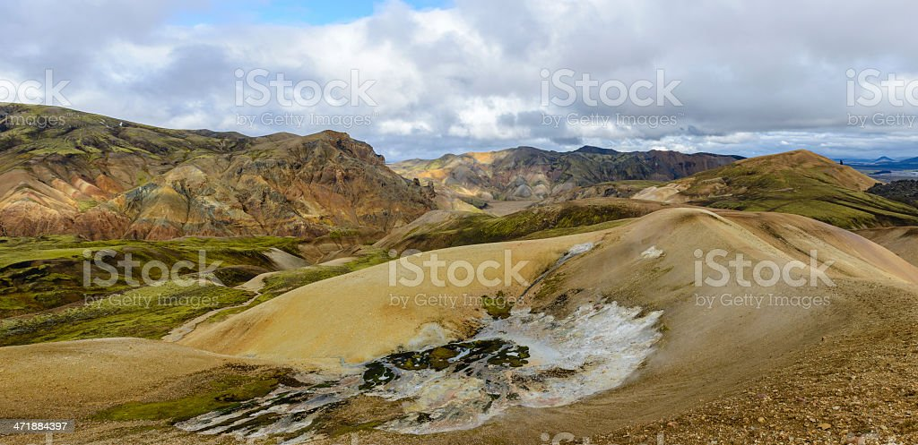 Landmannalaugar panorama royalty-free stock photo