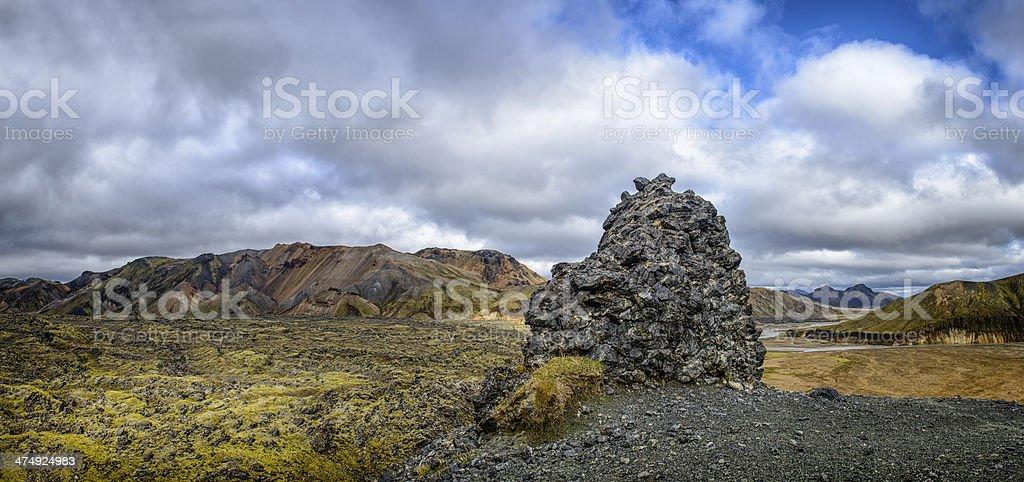 Landmannalaugar Panorama stock photo
