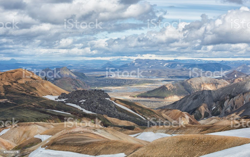Landmannalaugar stock photo