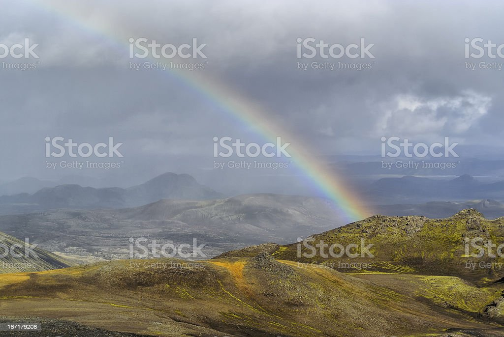 Landmannalaugar rainbow royalty-free stock photo