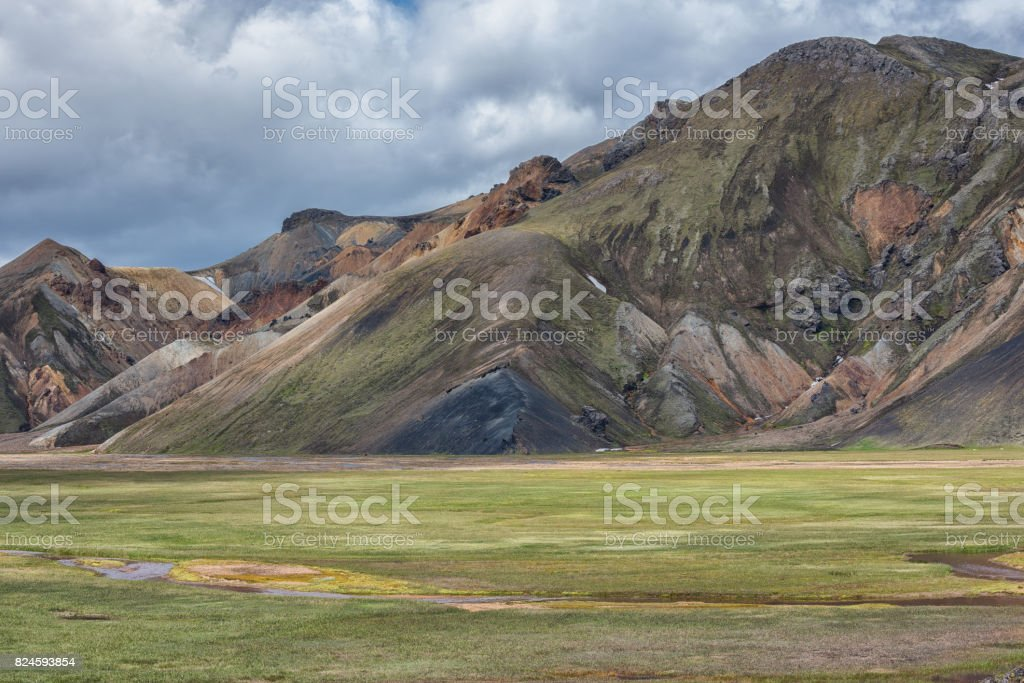 Landmannalaugar Valley stock photo