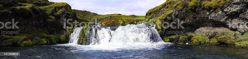 Landmannalaugar waterfall royalty-free stock photo