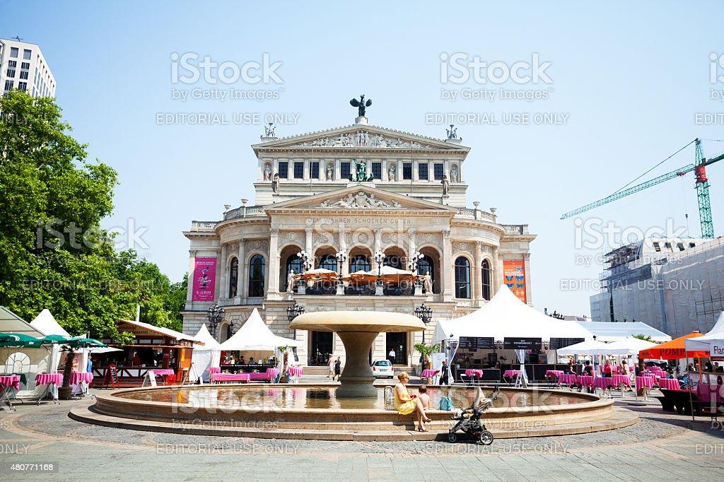 Landmark Alte Oper in Frankfurt Main stock photo