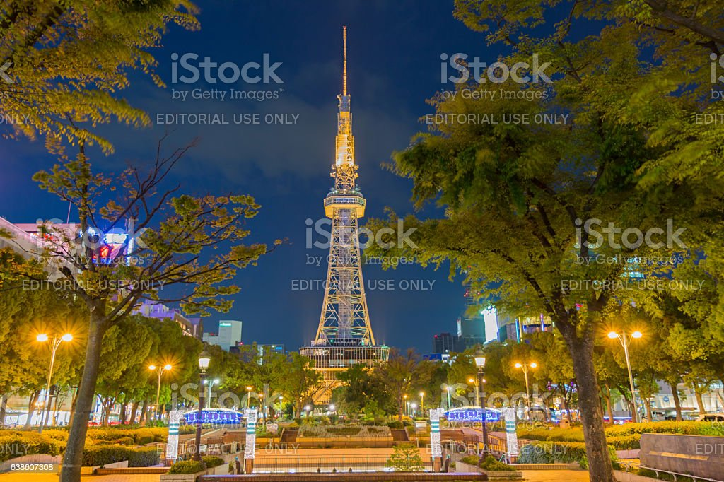 landmark and commercial center of the city Nagoya stock photo