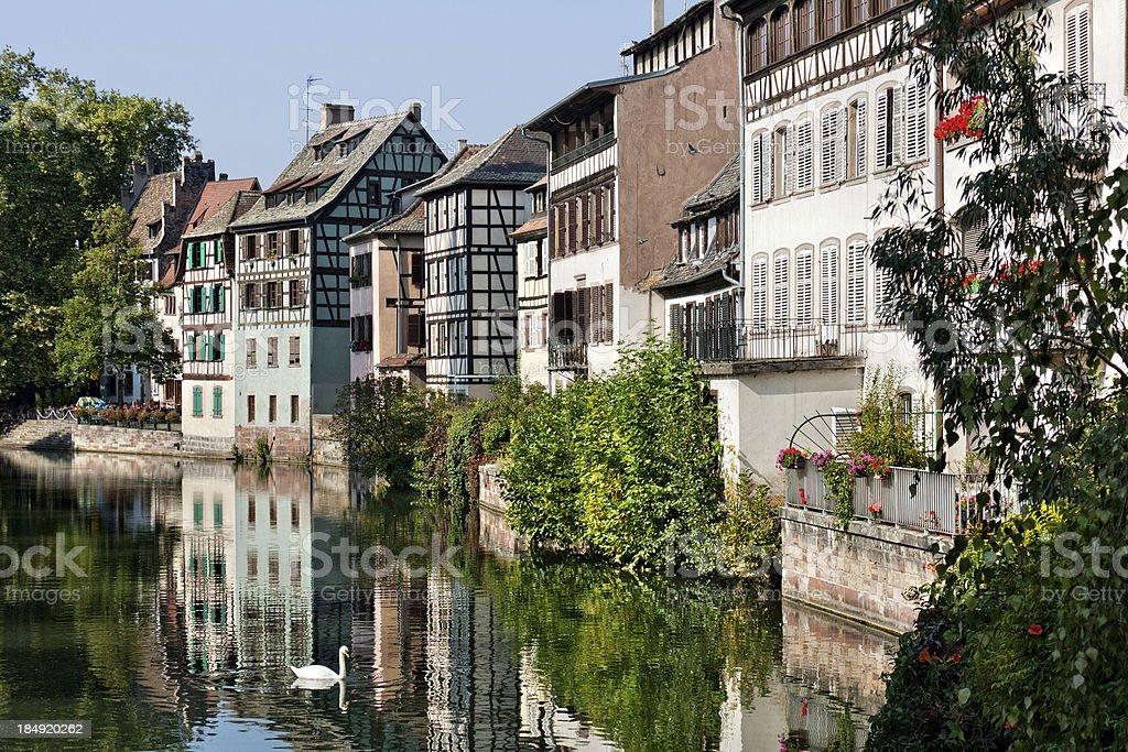 Landmark in Strasbourg - The Quarter Petite France stock photo
