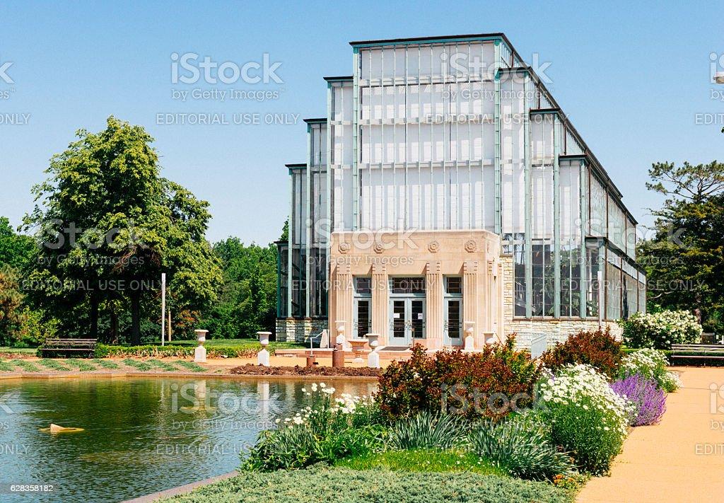 Landmark Jewel Box Greenhouse Architecture Forest Park St. Louis Missouri stock photo