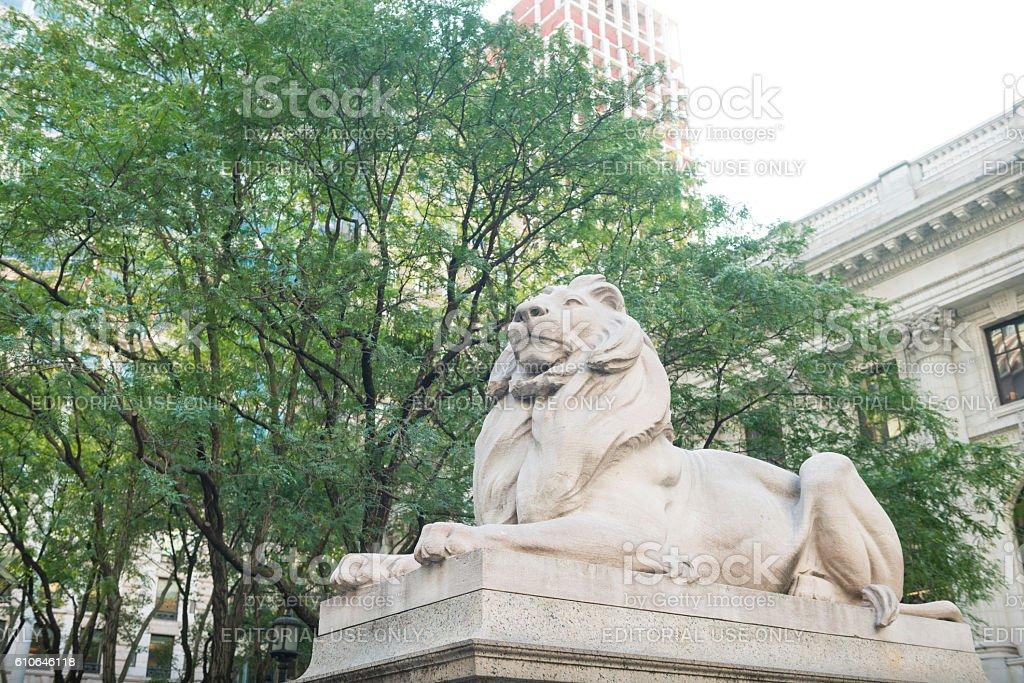 Landmark New York Public Library Iconic Beaux Arts Architecture stock photo