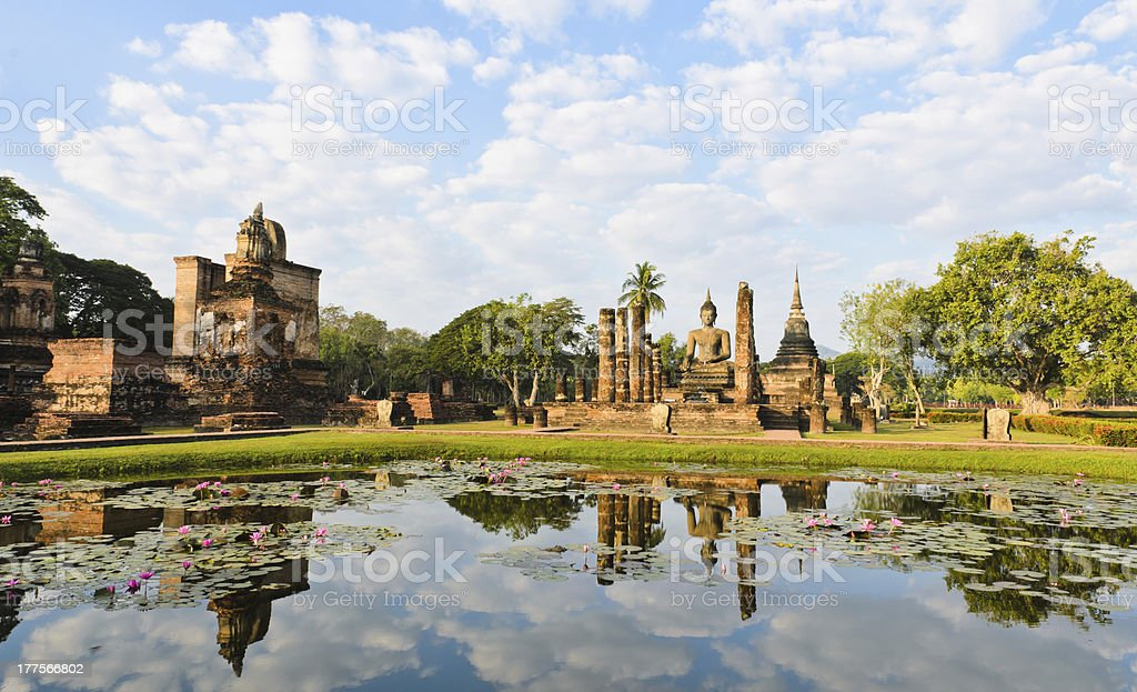 Landmark of ancient Thai temple royalty-free stock photo