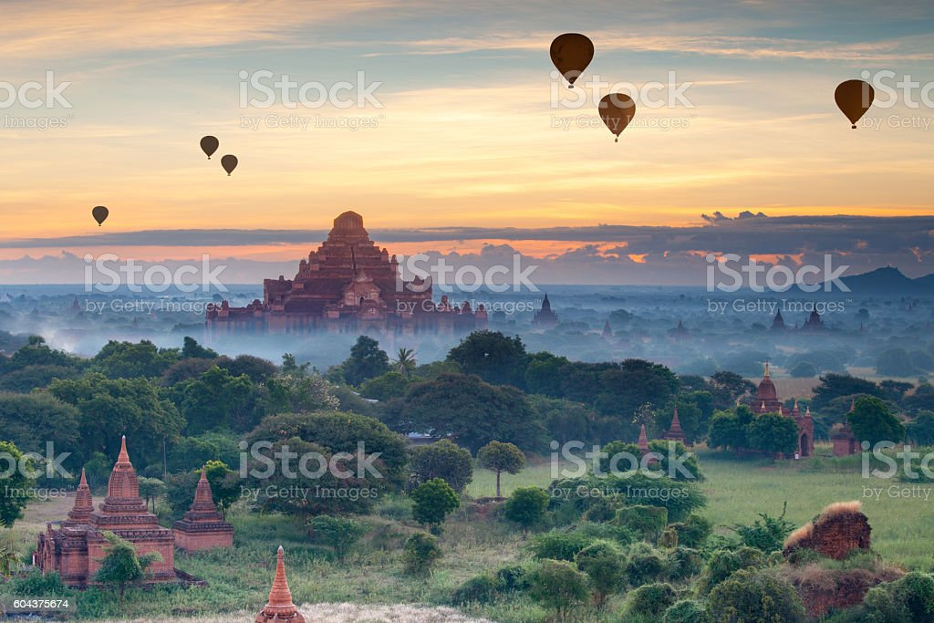 landmark of bagan stock photo