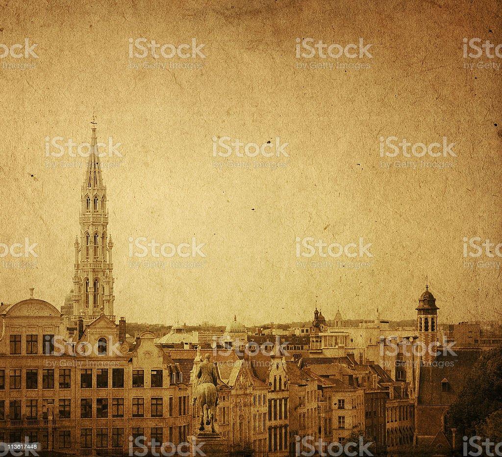 landmark of Brussels stock photo