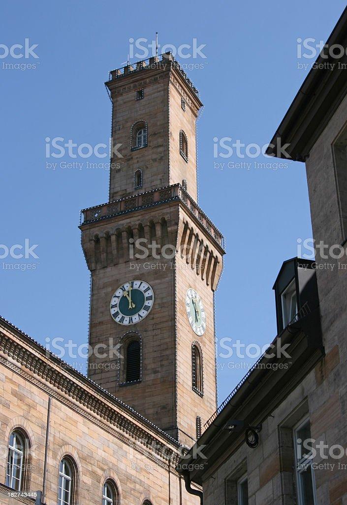 landmark of Fuerth, city in Bavaria stock photo