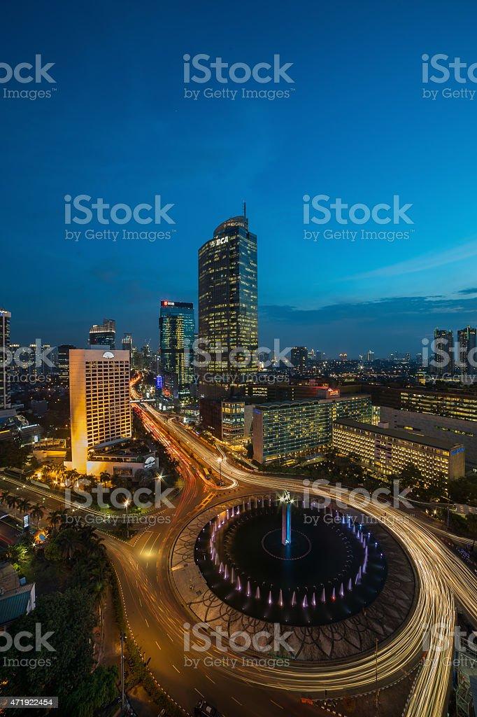 Landmark Of Jakarta City stock photo