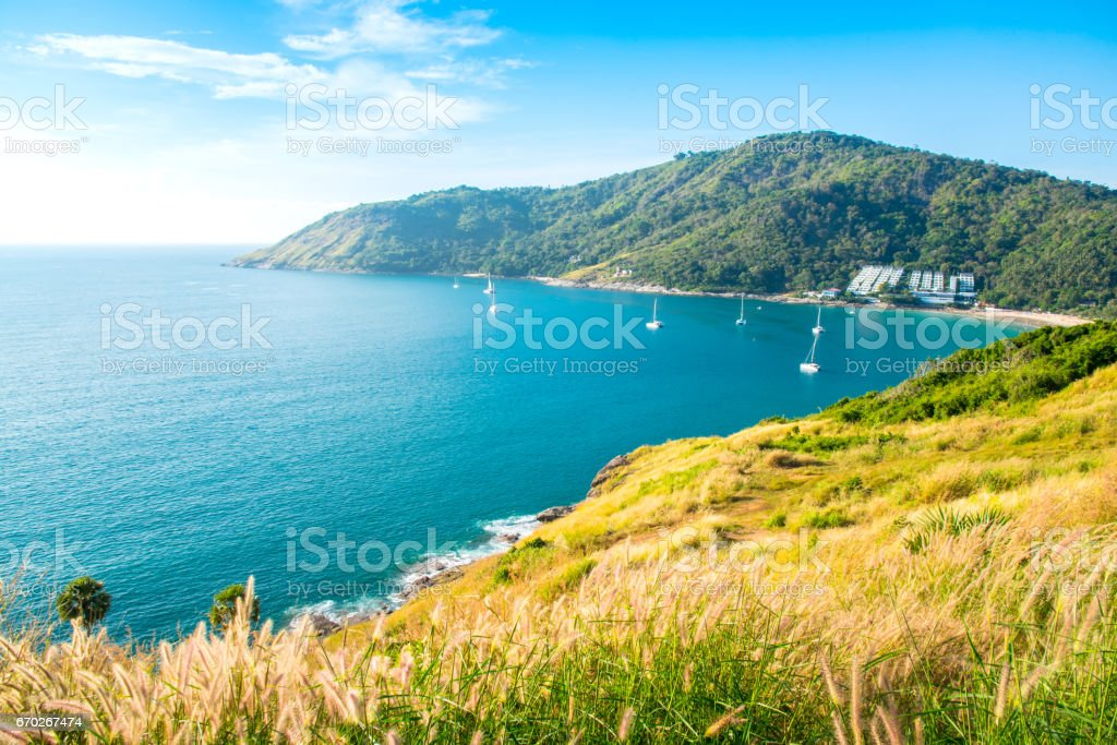 landmark of Phuket,Promthep Cape,Thailand. stock photo