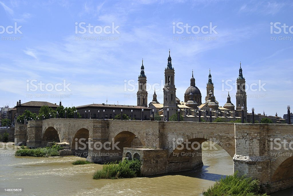 Landmark of Saragossa royalty-free stock photo