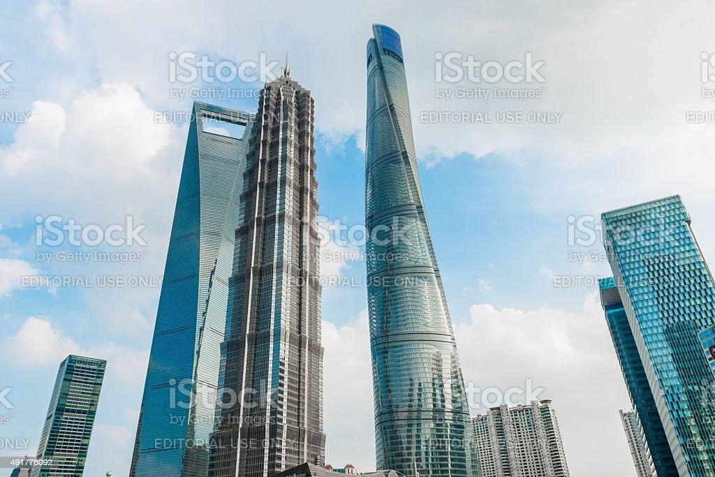 Landmark Tower in Shanghai stock photo