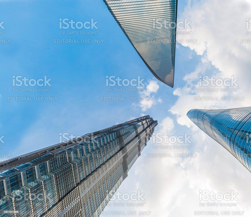 Landmark Tower in Shanghai (Panoramic) stock photo