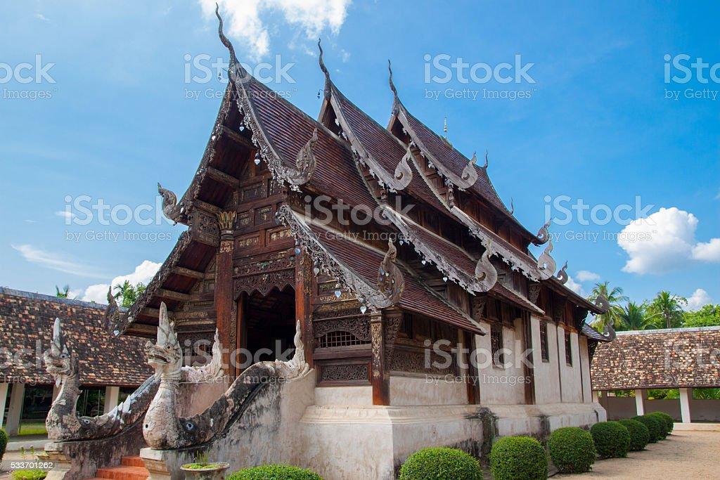 Landmark wat Ton Kain 700 years stock photo