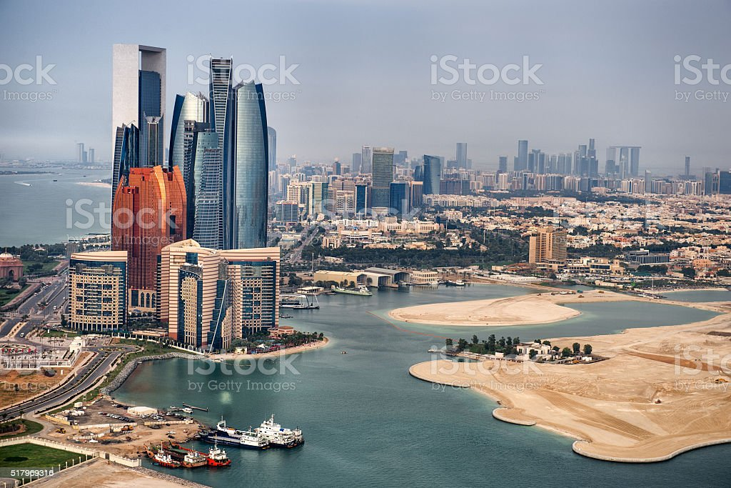 Landmarks in Abu Dhabi stock photo