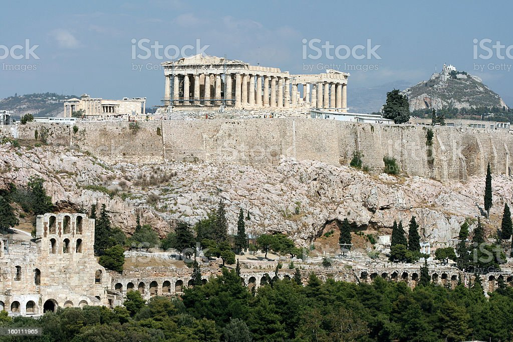 landmarks of athens royalty-free stock photo
