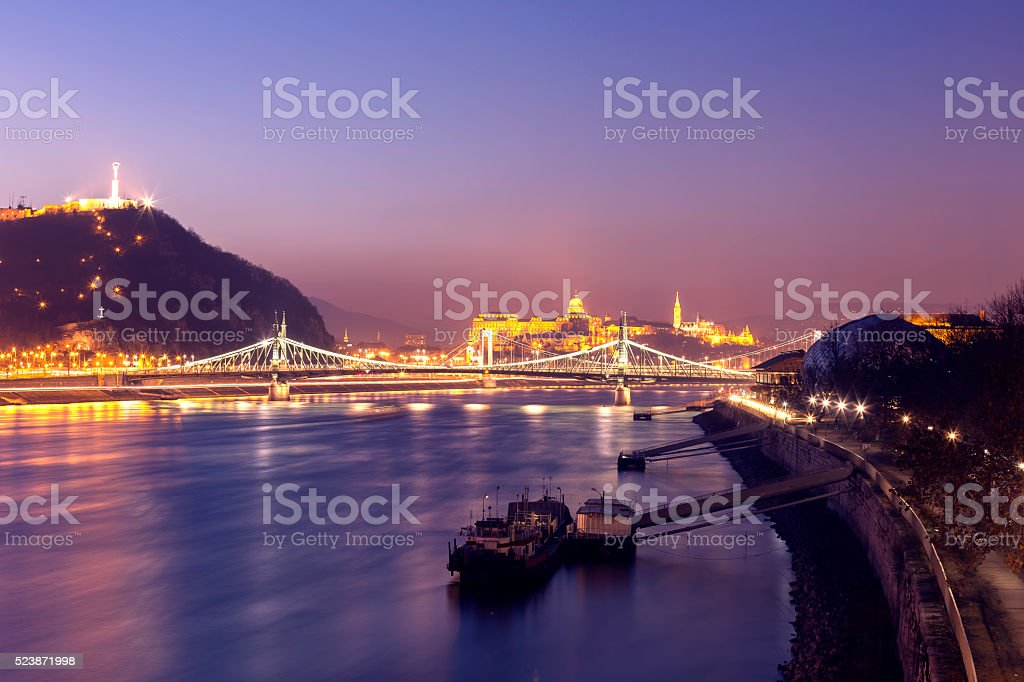 Landmarks of Budapest stock photo